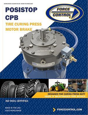 The new CPB Tire Curing Press brake