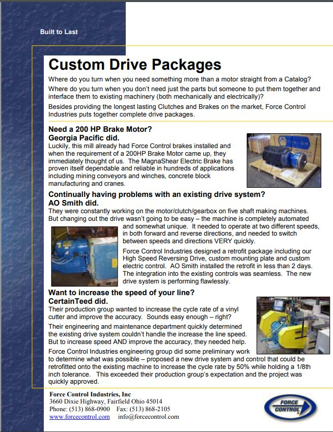 Custom Drives Flyer