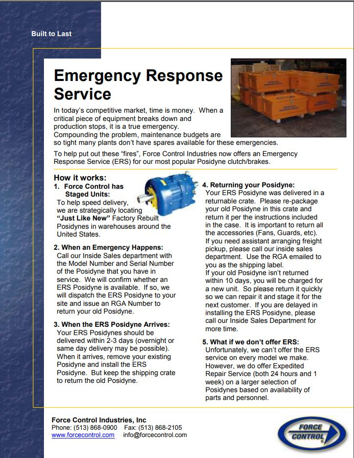 Emergency Response Flyer